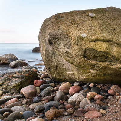 Boulders along the Baltic coastline, Isle of Ruegen