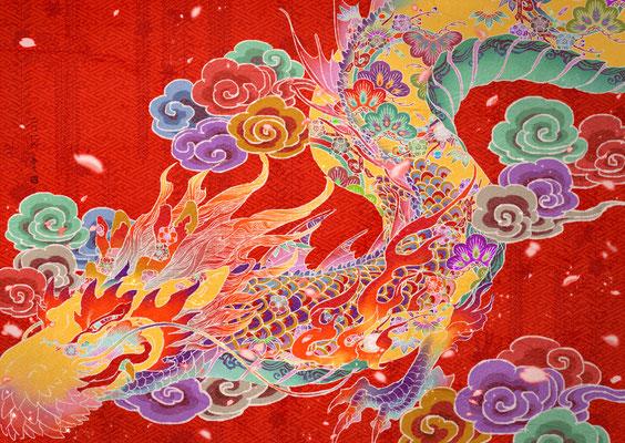 琉球紅型龍