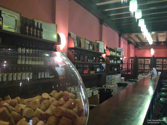Verkostungsraum im Weingut Porto Carras
