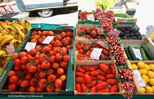 Markt in Carpentras: Bei dem Angebot fällt gesunde Ernährung leicht