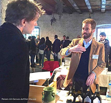 Charmant: Filippo Dal Varmes von Torre degli Alberi erklärt die Philosophie seines Weinguts