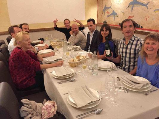 Unsere Reisegruppe im Restaurant El Hilo de Ariadna