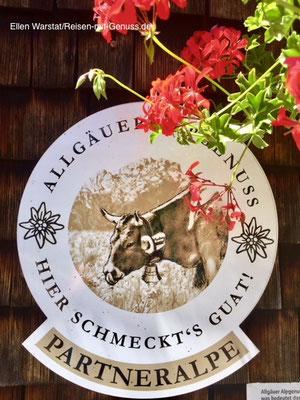 Ein Zeichen für Qualität: Alle Partner Alpen des Vereins Allgäuer Alpgenuss findet Ihr unter www.alpgenuss.de