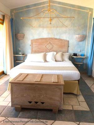 Einladend und romantisch: die Zimmer im Luxus-Resort Marinedda