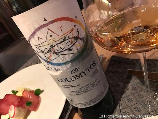 Ein Schatz aus Gregors Weinkeller: Dolomytos 2005
