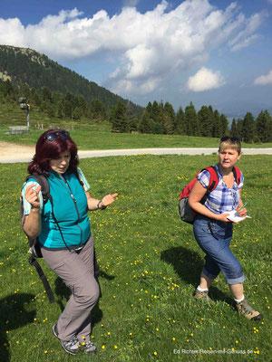 Kräuterwandern mit Sigrid: Bei so vielen Infos muss ich Notizen machen