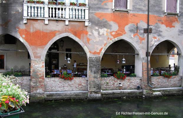 Die Farbe bröselt, aber auch das macht den Charme Trevisos aus