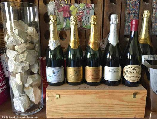 Das Sortiment von Champagne Jean Velut