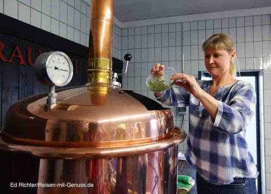In unser Bier kommen vier verschiedene Hopfensorten
