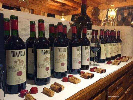 Tignanello-Tasting im Hotel Burg