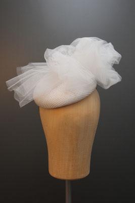 Brautkopfschmuck, Fascinator für die Hochzeit aus Tüll
