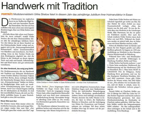 August 2010, Deutsches Handwerksblatt