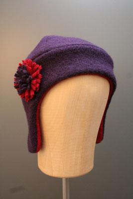 genähte Mütze aus Wolle aus dem eigenen Hutatelier