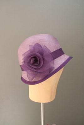 festlicher Hut, 20er Jahre Glocke mit Blüte