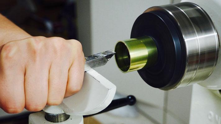 2 - tournage de la bague en laiton