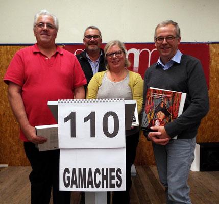 L'équipe de la ville de Gamaches accompagnée de Monsieur le Maire