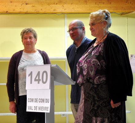 CC Val de Nièvre avec Françoise Tellier, François Marié et Françoise Grace