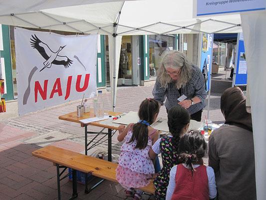 Das Interesse an unseren Aktionen für Kinder war groß.