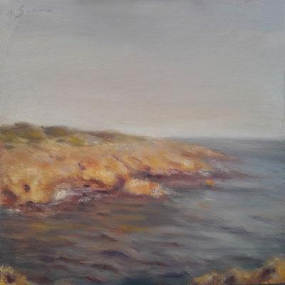 Caldo bagliore, olio su tavola, 20 x 20 cm, 2020