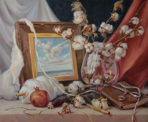 Le Moire, colori a olio su tela, 50 x 60 cm, 2020