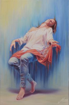 Ecstasy, oil on canvas, 70 x 109 cm, 2017