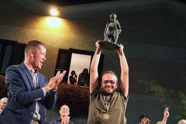 Premiazione 42° Incontro Nazionale Madonnari in Grazie di Curtatone (MN) 2015 1° Classificato
