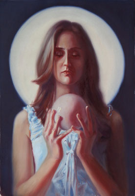 Selene, oil on canvas, 60 x 85 cm, 2017