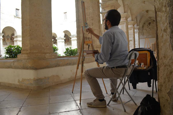 Stage di pittura presso il convento dei Paolotti a Grottaglie, 2016