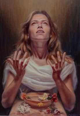 Fonte dell'eterna giovinezza, oil on canvas, 50 x 71 cm, 2020