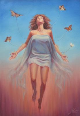 Arise, oil on canvas, 62 x 90 cm, 2017