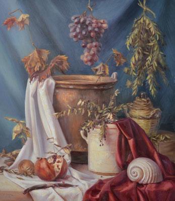 Mirto, colori a olio su tela, 60 x 70 cm, 2020