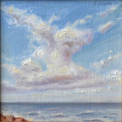 Leggera, olio su tavola, 20 x 20 cm, 2020