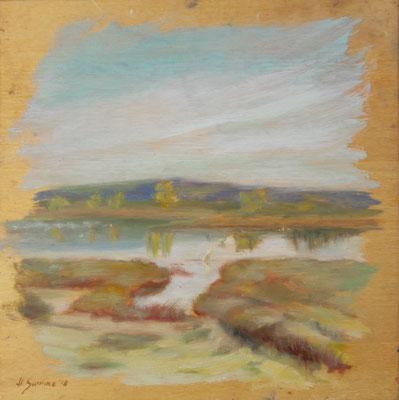 Il furbo, oil on wooda, 20 x 20 cm, 2018