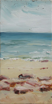 I quattro elementi, Campomarino, oil on wood, 10 x 20 cm, 2015