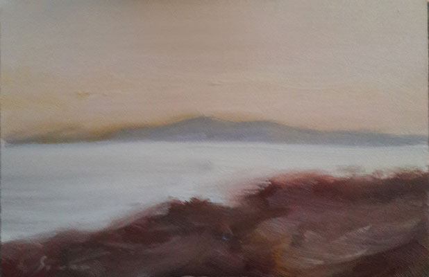 Sila, olio su pannello telato, 10 x 15 cm, 2020