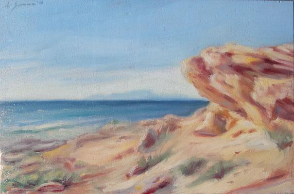 Lo scrigno, oil on wood, 20 x 30 cm, 2018