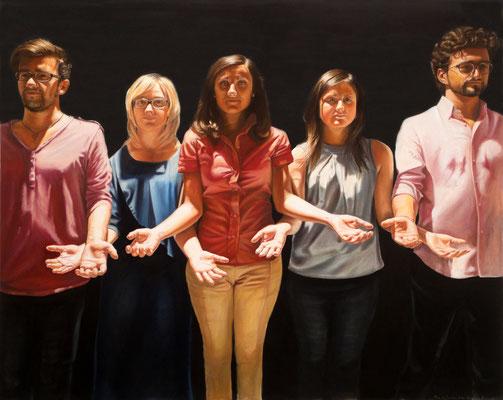 Solidarietà comune, oil on canvas, 160 x 200 cm, 2014