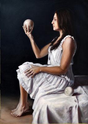 Selene, oil on canvas, 48 x 68 cm, 2016