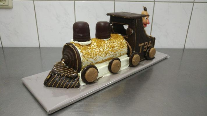 |1|: Geburtstagstorte Dampflock - Ernie und Bert - Frontansicht