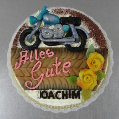  17 : Geburtstagstorte für Motorradfan zum 60.