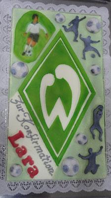  18 : Werder-Bremen Torte zur Konfirmation