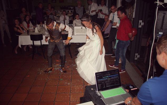 Hochzeit 2015 bei Heitersheim im Cafe Artis Start als Weeding Dj