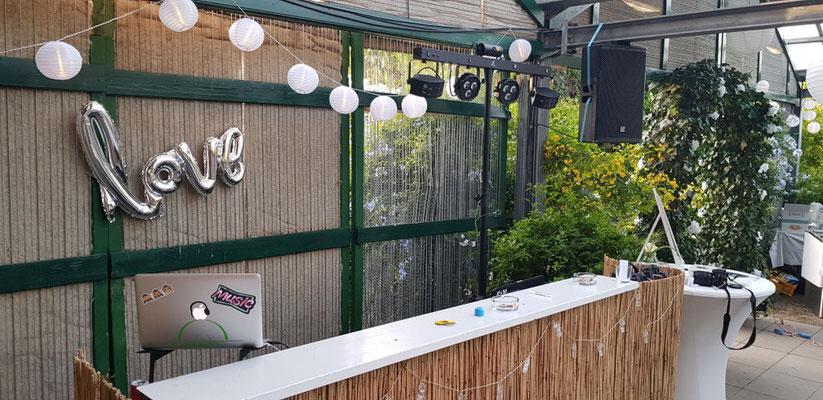 Hochzeit  Location  Blumenhaus Dick in Opfingen September 2018