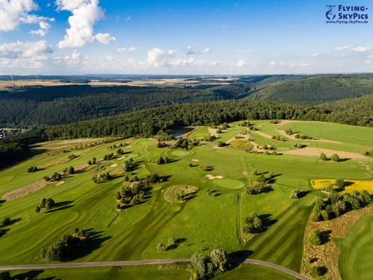 Schöner Panoramablick aus der Luft