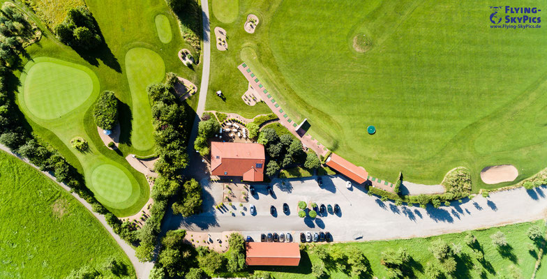 Panorama Nadir nach unten vom Golfplatz