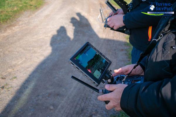Liveübertragung von der Drohne zur Bodenstation