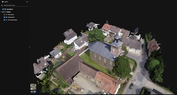 3D Modell einer Kirche zur Bestandsaufnahme und Zustands Bestimmung