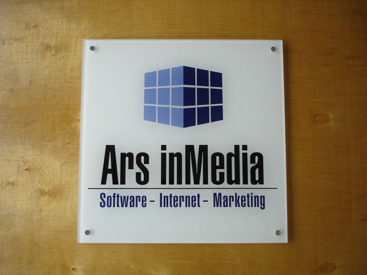 Plexiglas-Schild mit Digitaldruck