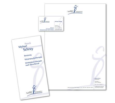 Briefpapier, Flyer und Visitenkarte