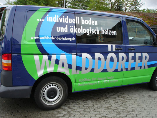 Autobeschriftung Firma Walddörfer Tübingen